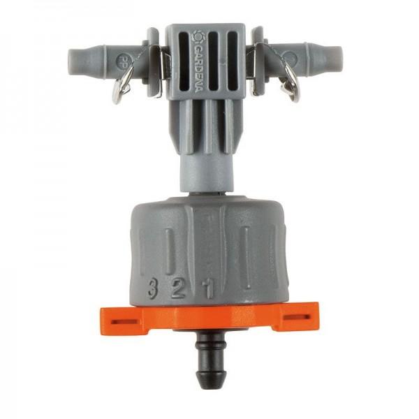 Gardena Micro Drip System Regulierbarer Reihentropfer, druckausgleichend