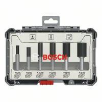 Bosch Nutfräser-Set, 8-mm-Schaft, 6-teilig - 2607017466