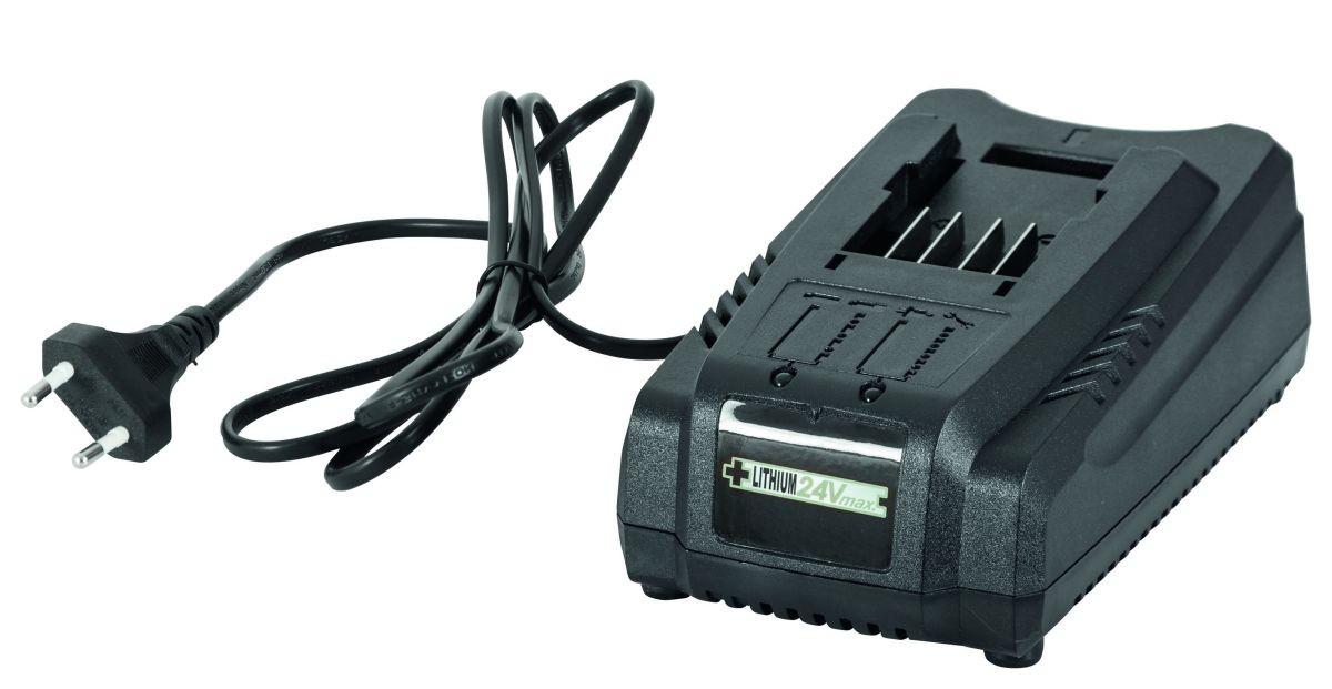 Grizzly 24V Schnell-Ladegerät für 2,0 Ah oder 4,0 Ah Akkus, 24-Volt-Akku-System