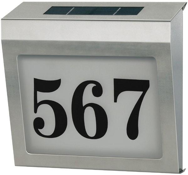 Brennenstuhl Solar Power SH 4000 - Numéro de maison - Acier inoxydable