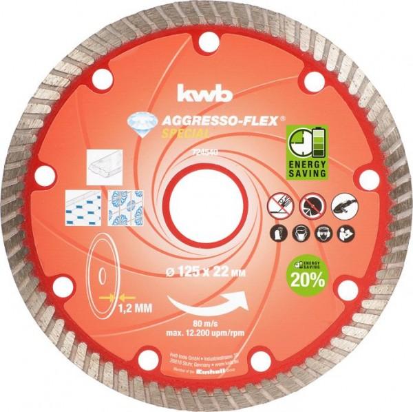 KWB AGGRESSO-FLEX® -diamantdoorslijpschijven, ø 125 mm - 724540