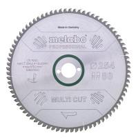 """Metabo Zaagblad """"multi cut - professional"""", 254x2,4/1,8x30, Z80 FZ/TZ, 5°neg. - 628223000"""