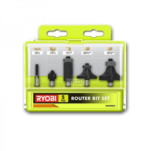 Ryobi Set di frese 5 pezzi per R18TR-0 / RRT1600-K RAKRBS5 - 5132003828