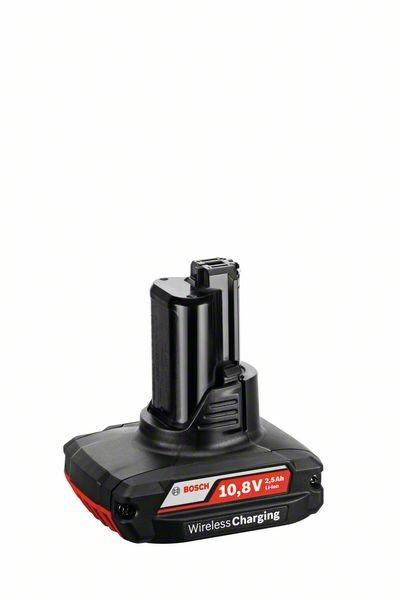 Bosch Professional Akkupack GBA 10,8 Volt / GBA 12 Volt, 2,5 AH, OW-B, Wireless Charging