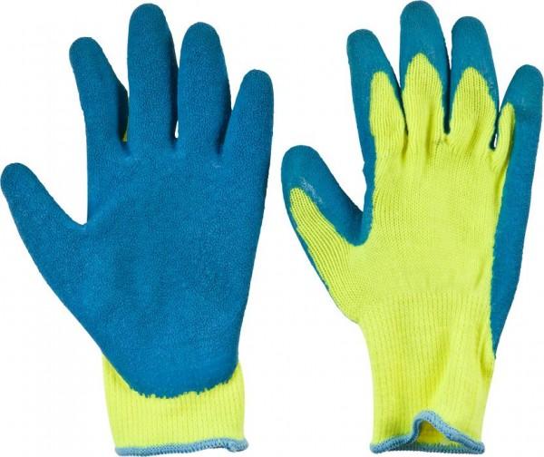 KWB Gebreide handschoenen, latex coating op de handpalmen - 937430