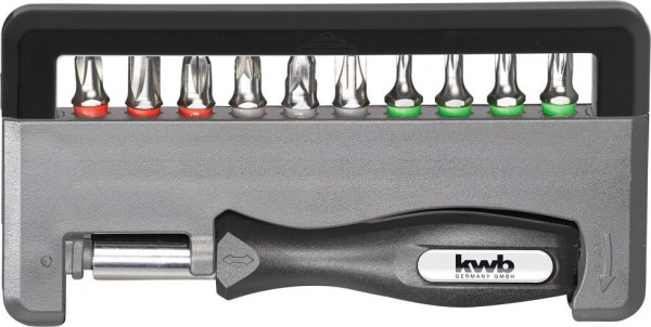 KWB INDUSTRIAL STEEL Standard Handy Bit-Box, 12-delig - 151010