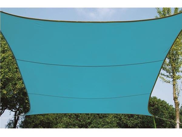 Perel ZONNEZEIL - VIERKANT - 5 x 5 m - KLEUR: HEMELSBLAUW