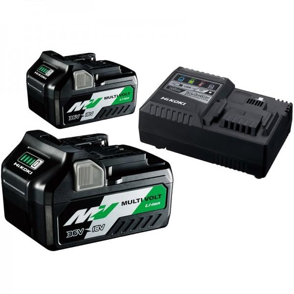 HiKOKI Booster-Pack 2 x BSL36B18 + UC18YSL3 - UC18YSL3WA2Z