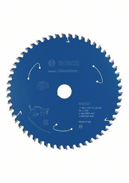 Bosch Lame de scie circulaire ExpertforAluminium pour scies sans fil 165x1,8/1,3x20, T54 - 2608644539