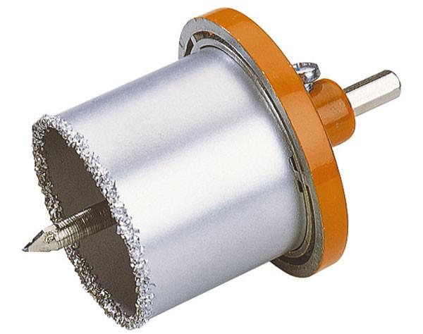 Wolfcraft Scie trépan pour matériaux semi-durs avec embase et foret centreur CT, prof. 55 mm