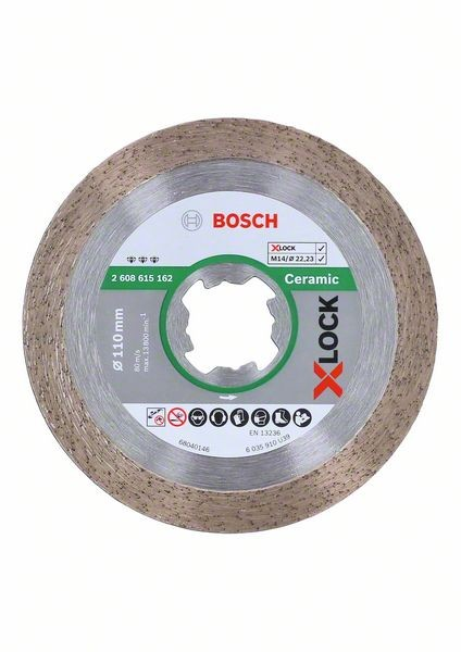 Bosch Disco diamantato X-LOCK Best for Ceramic 110 x 22,23 x 1,8 x 10 mm - 2608615162