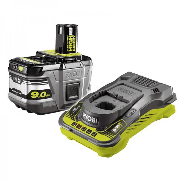 Ryobi Caricabatterie Super-Rapido e batterie 18V/9,0Ah - RC18150-190