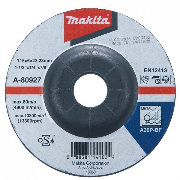 Makita Afbraamschijf, 115x6,0mm, metaal, 100 stuks - A-80927