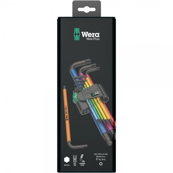 Wera 950 SPKL/9 SM N Multicolour Winkelschlüsselsatz, metrisch, BlackLaser, 9-teilig - 05073593001