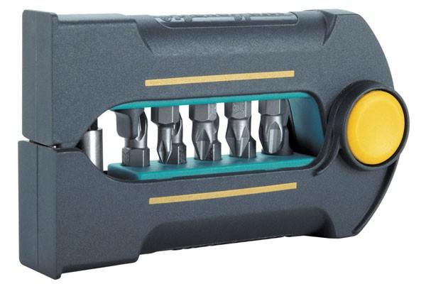 Wolfcraft BitButler, Solid, composé de 11 pièces :. 1 porte-embouts magnétique et 10 embouts: Torx No. 7, 8, 9