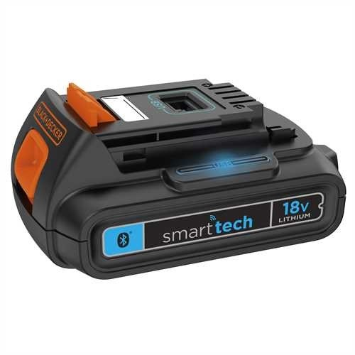 Black & Decker Batteria smart tech al Litio 18V, 2Ah - BL2018ST-XJ