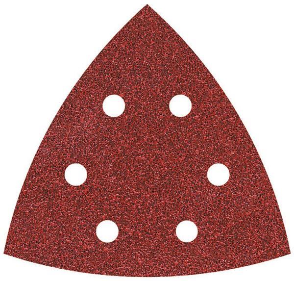 Wolfcraft fogli abrasivi velcro, corindone grana 60/120/240, perf.