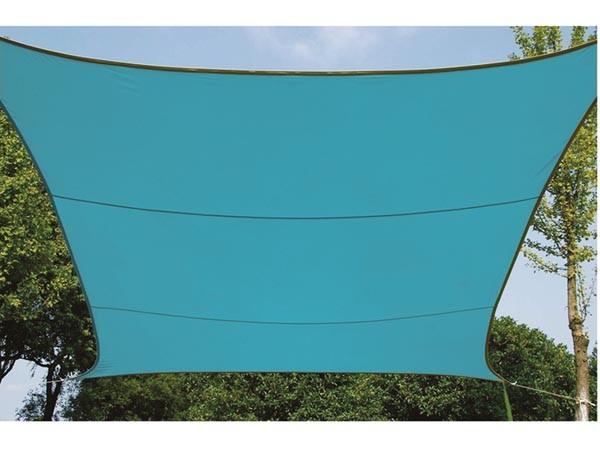 Perel ZONNEZEIL - VIERKANT - 3.6 x 3.6 m - KLEUR: HEMELSBLAUW