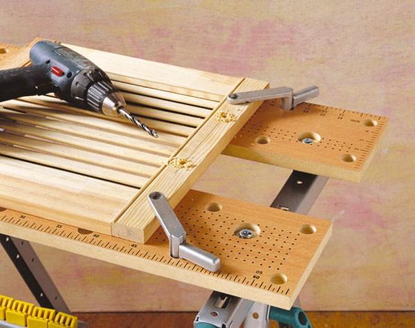 Wolfcraft Brides de serrage rapide, Ø 20 mm pour tout établi avec perforations de Ø 20mm pour réf. 6165, 6167 - 2 pièces