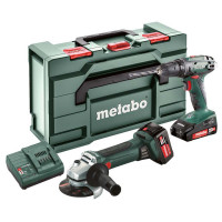 Metabo Combo Set 2.4.3 18 V Accu-machines in de set 18V, BS 18 + W 18 LTX 125 Quick, Li-Power accu-pack (18 V/2,0 Ah/4,0 Ah) - 685082000