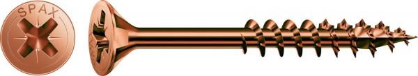 Spax Universalschraube, 6 x 120 mm, 100 Stück, Teilgewinde, Senkkopf, Kreuzschlitz Z3, 4CUT, Brüniert - 1081140601205