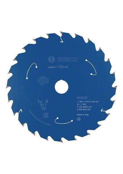 Bosch Lame de scie circulaire Expert for Wood, 165x1,5/1x20, 24dents - 2608644507