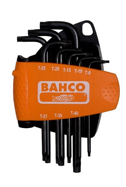 Bahco JEU DE TOURNEVIS D'ANGLE, 8 PCS, TX, BRUNI, LONGS - BE-9575